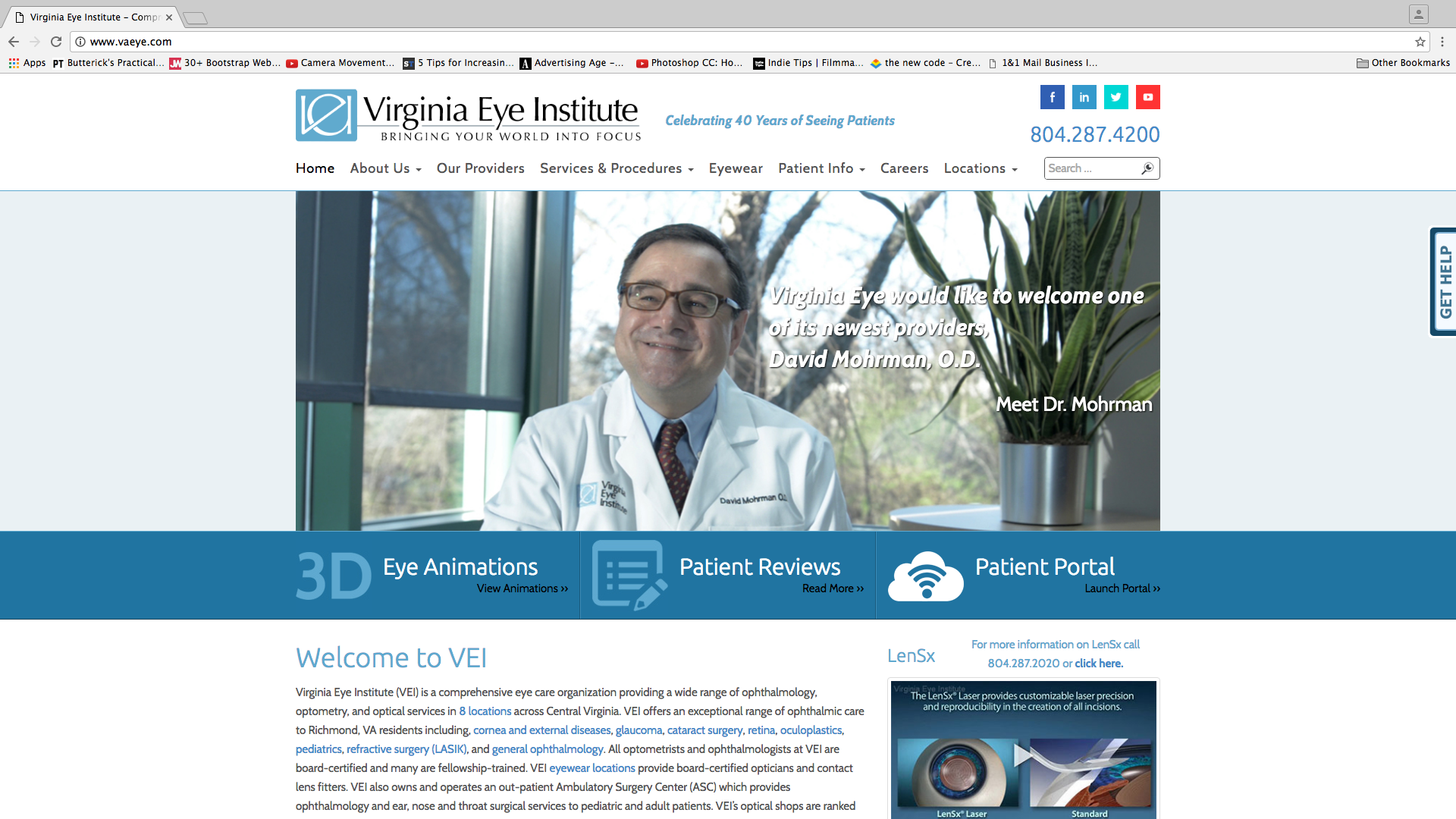 Virginia Eye Institute Website