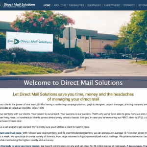 Direct Mail Solutions Website Homepage
