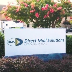 Direct Mail Solutions sign