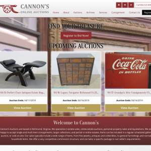 Cannons Online Auctions Website