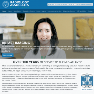 Radiology Associates of Richmond Website