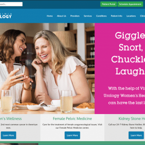 Virginia Urology Website Homepage