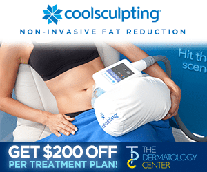Coolsculpting display ad for the dermatology center